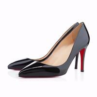 25 цветов 2015 женщин обувь Красный Нижняя каблуках женщин насосы Свадебная обувь sapatos femininos размер 35-42