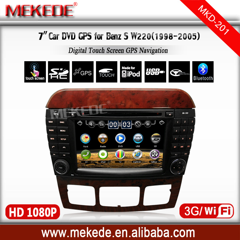 3G/wifi+CAR AUDIO/CAR DVD/cassette player for MERCEDES BENZ S Class W220 CL W215 W220 W220 S550 S600 S350 S400 S280 S320 S65(China (Mainland))
