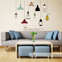 Buy Shine Light Bulb Wall Sticker Living Room Bedroom Decor Mural Art Vinyl Wallpaper Tableware Wall decal Stickers Kitchen for $5.72 in AliExpress store