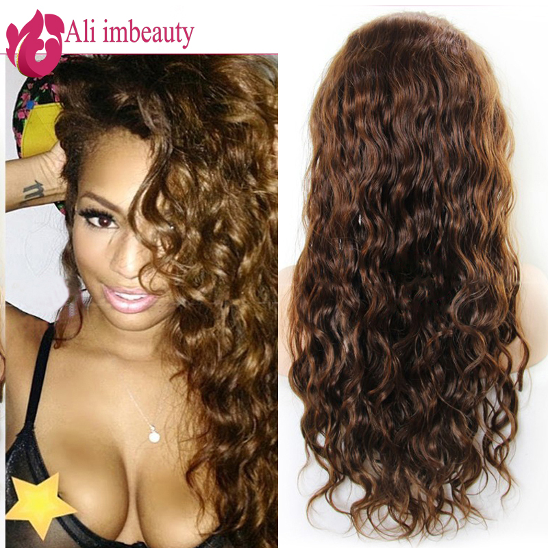 """7A Lace Front Wigs Brazilian Deep Wave Human Hair Wigs Cheap 8""""-24"""" In Stock Glueless Middle Part Lace Wigs For Black Women(China (Mainland))"""