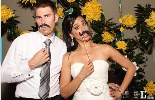 Set of 31 Mustache On A Stick Wedding Party Photo Booth Props Photobooth Funny Masks Bridesmaid Gifts 50 sets/lot(China (Mainland))