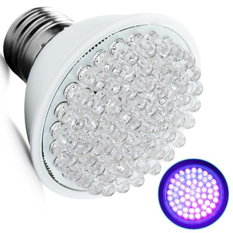 Ultra Bright E27 UV Ultraviolet Color Purple Light 60LED Lamp Bulb 110/220V reliable quality