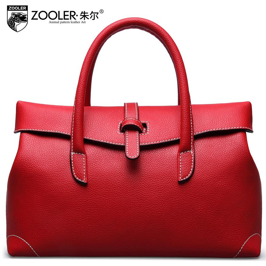 Фотография 2016 New zooler genuine leather women bag brands fashion quality  women handbags shoulder messenger cowhide rome bag