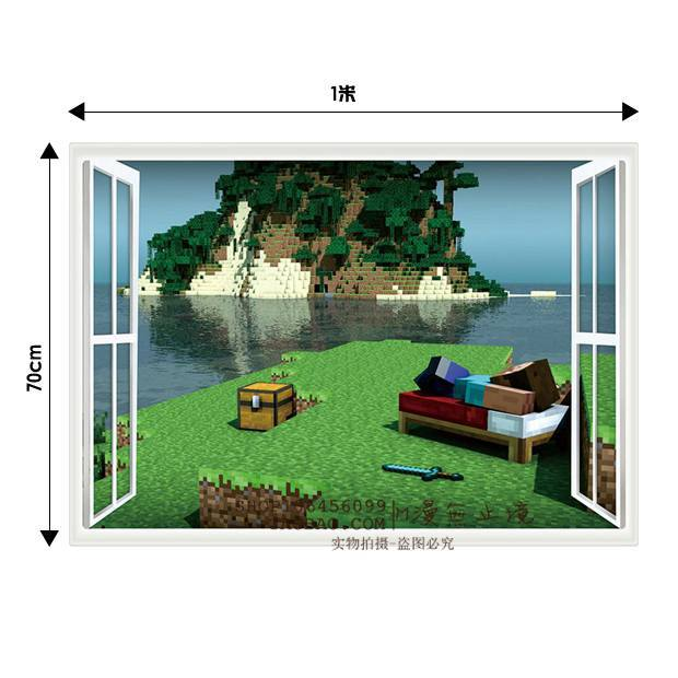 3D Minecraft Style Wall Decal Poster Sticker Room Bedroom Decor Video Game-5(China (Mainland))