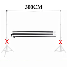 Low Price Photo Studio Professional 3M Photo Photography Background Support CrossBar Premium Quality Black Aluminum