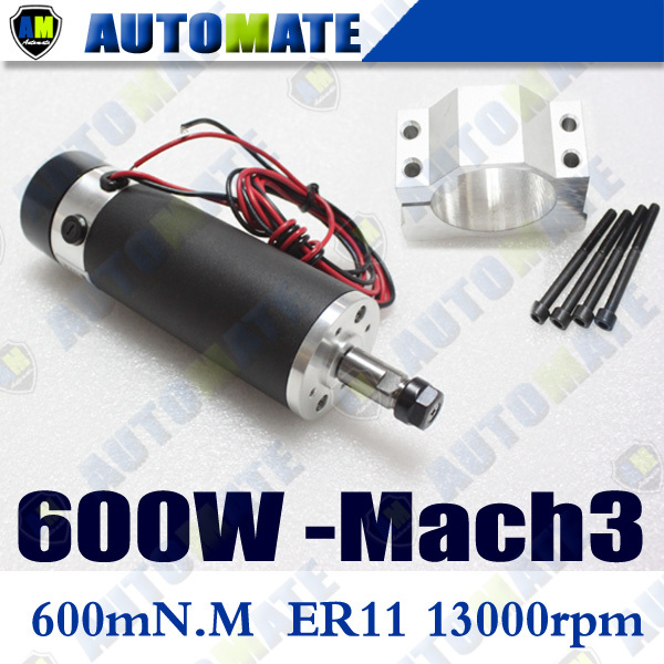Шпиндель станка AUTOMATE CNC 0.6kw 6A 3000/13000r/600w ER11 + A302B 600W Air Spindle Set free shipping 0 5kw air cooled spindle motor er11 chuck 500w spindle dc motor