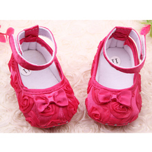 Promotion 2016  Newborn Baby Infant Rose Breathable bow Toddler Shoes Unisex Boys Girls 0-1 year old baby soft shoes sneakers(China (Mainland))