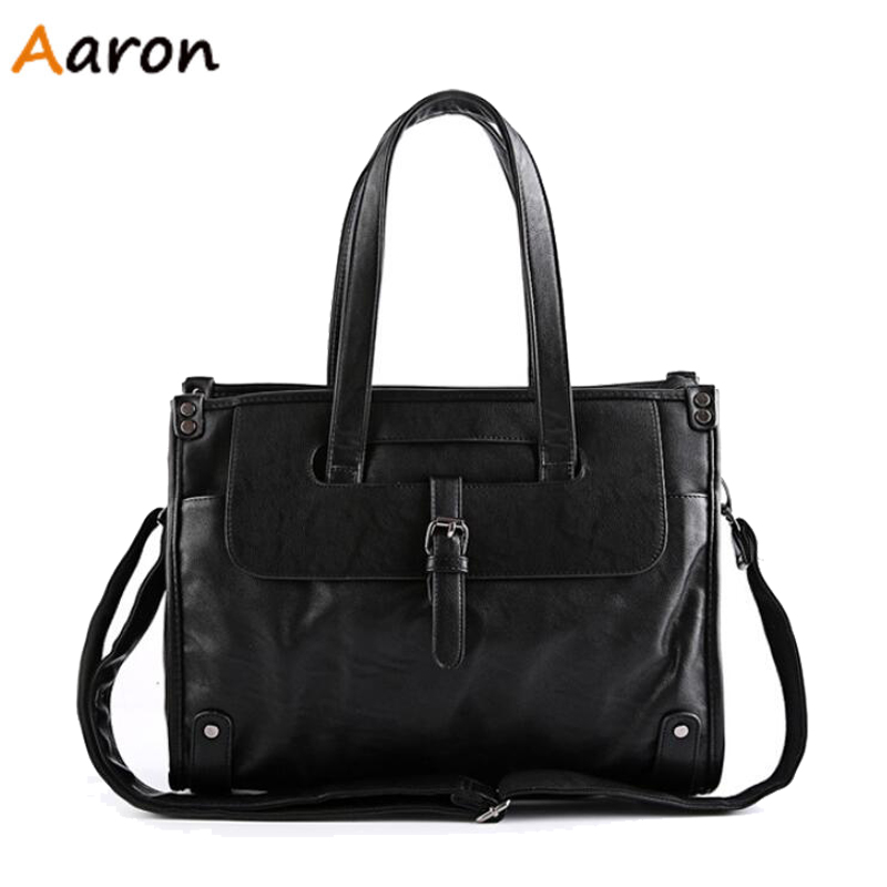 Aaron - Large Capacity Men's Travel bags Sport Shoulder Bag PU Leather Business Handbag For Men Office Men's Messenger Bags