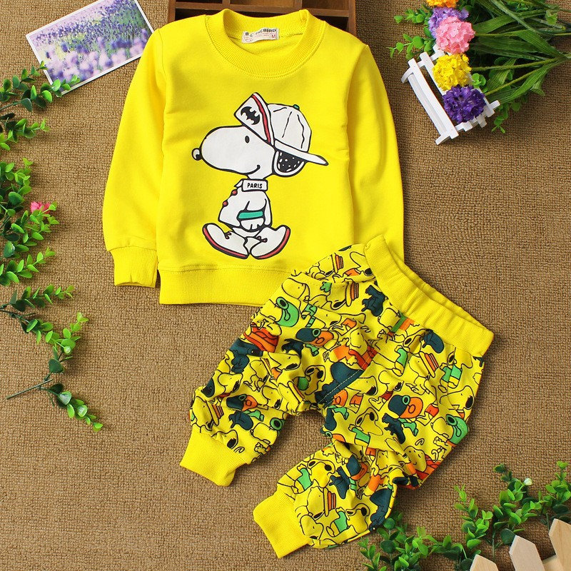 baby clothes sportswear cartoon 3 color children clothing Fashion high quality baby boy clothes winter girls clothing set 2-6ycs(China (Mainland))