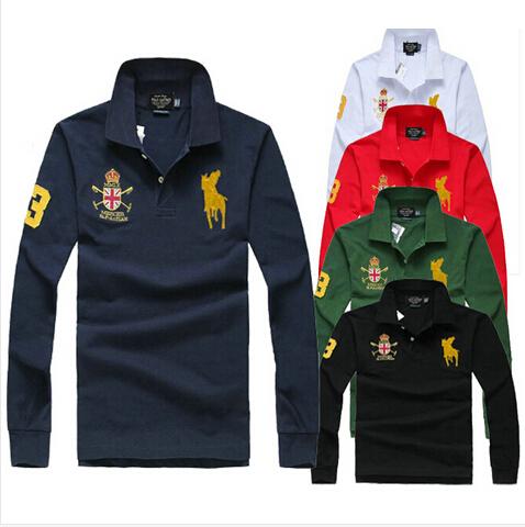 2015 new Small horse LOGO brand Polo Ralph shirt men match club shirts long sleeve casual shirts style for casual shirt(China (Mainland))