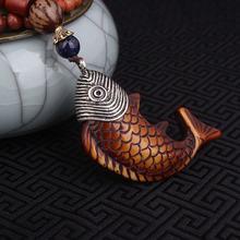 Мода уклониться от мира рыбы этническое ожерелье, Непал ювелирные изделия ожерелье, sandalwoods vintage подвески ожерелье(China (Mainland))