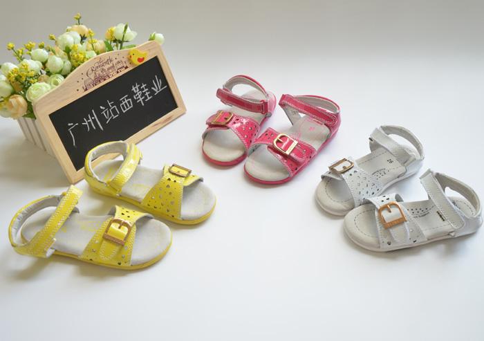Pediped adherents female child shenzhou-7 leather sandals 26 - 30(China (Mainland))