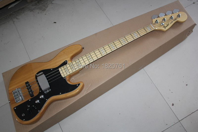 2019 Free shipping jazz bass guitar 4 strings jazz Electric bass guitar with Vintage Active pickups in stock 141110(China (Mainland))