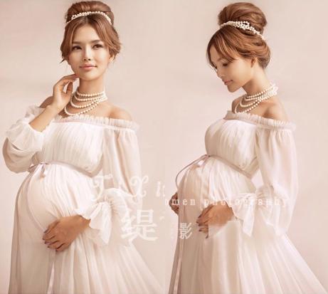 Big Sale Elegant Maternity Pregnant Women Photography Props Romantic  Shoulderless Long Dress Maxi Photo Shoot Fancy