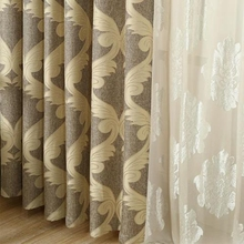WHOLESALE  European style high quality linen and cotton curtains finished product blackout cloth for balcony and living room #30(China (Mainland))
