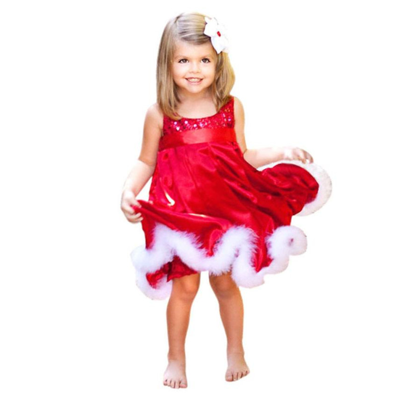 Baby girl dress christmas costumes clothes infant princess cotton