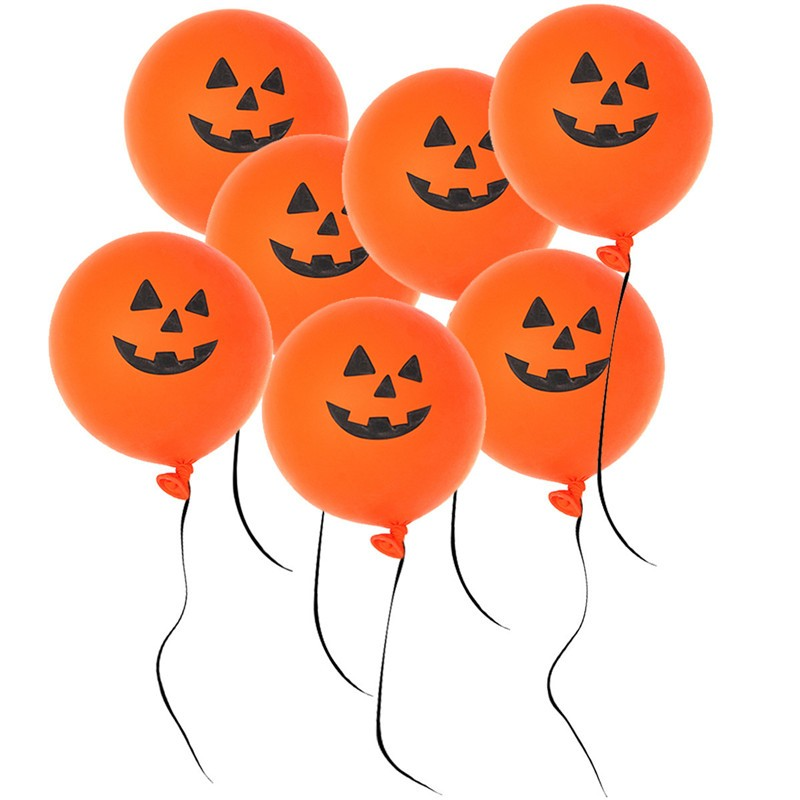 New Arrival 20pcs/lot Halloween Pure Latex Smiling Face Orange Printed Pumpkin Pattern Balloons Party Supplies Decoration Toys(China (Mainland))