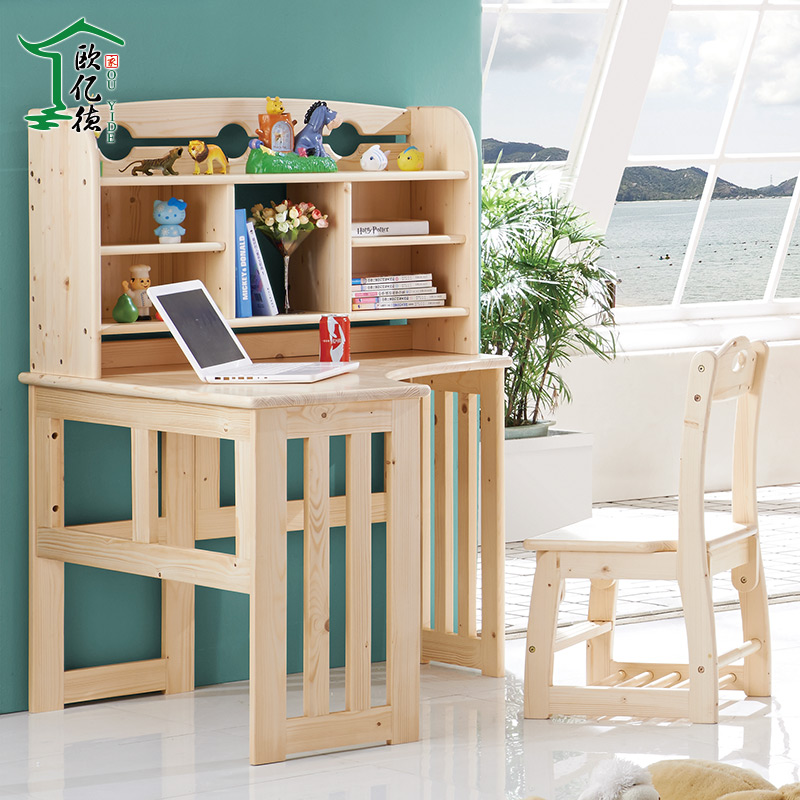 All solid wood study tables for children to bring children's library furniture Bookcases stylish and practical children's furni(China (Mainland))