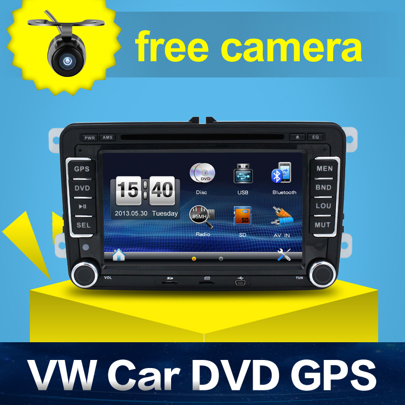 "New 7 "" 2din Car DVD for Volkswagen GOLF 4 GOLF 5 6 POLO PASSAT CC JETTA TIGUAN TOURAN EOS SHARAN TRANSPORTER T5 CADDY with GPS(China (Mainland))"