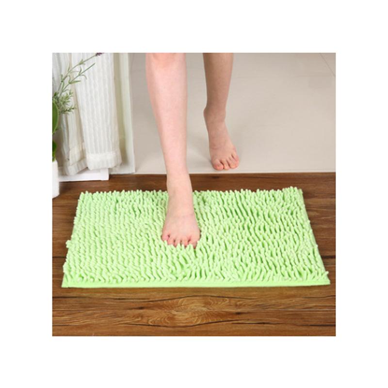 10Pcs/lot Floor bath mat pad fluffy rug Carpet For bathroom bedroom living room toilet doormat(China (Mainland))