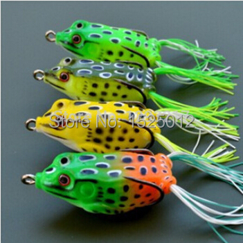 1pcs  frogs Fishing Lure for fishing tackle 5.5CM Topwater pesca fishing artificial Lure green bait<br><br>Aliexpress
