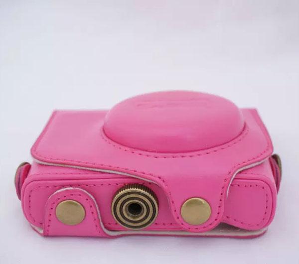 Fashion Leather Camera Case For Canon G7X Digital Camera PU Leather Camera Bag Cover(China (Mainland))