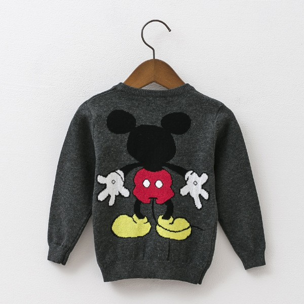 2016 kids autumn winter sweater blouses boys girls Micky Minnie cartoon pullover  children jacquard knits cotton clothing