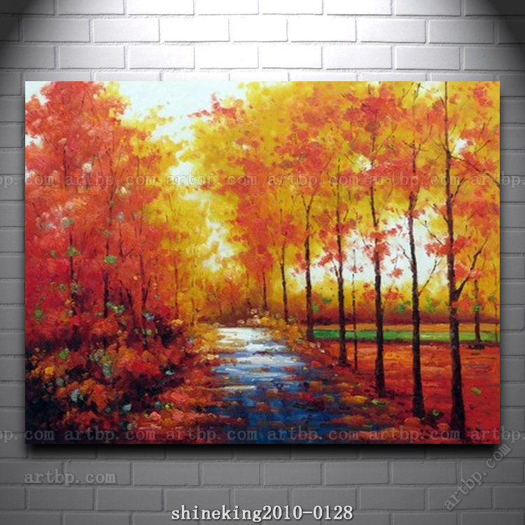 Handpainted Landscape oil painting Impressionist art canvas painting abstract figurative art jesus home decoration wal(China (Mainland))