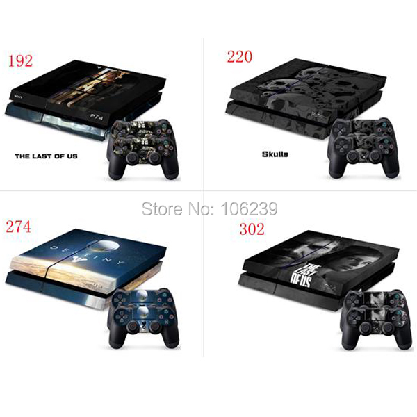 Several styles Vinyl Skin Sticker for Playstation 4 PS4 + 2 Controller decal cover<br><br>Aliexpress