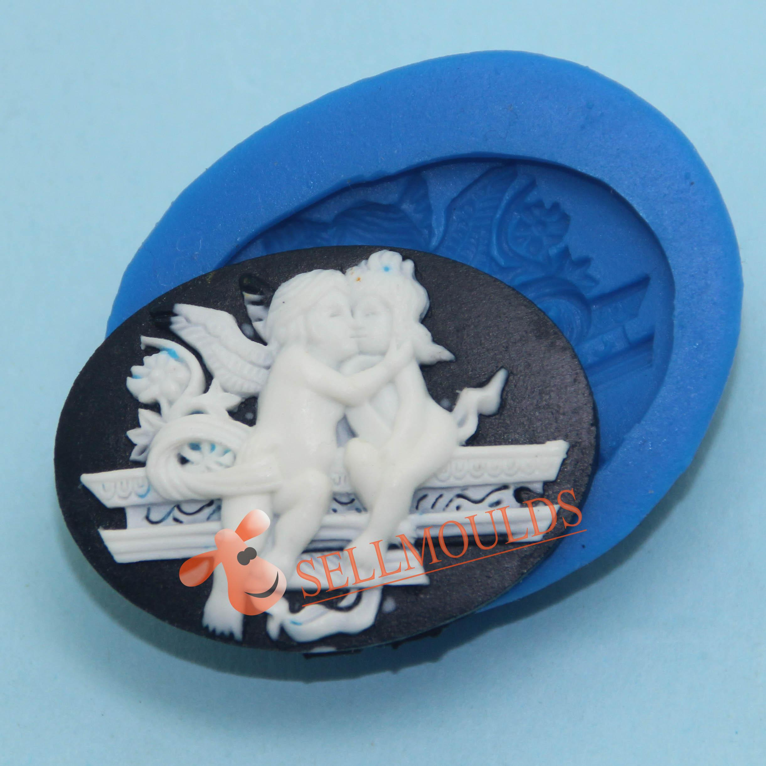 New Girl and Boy Craft Art Silicone Cookie mold Craft Molds DIY Handmade molds Wedding Kiss(China (Mainland))