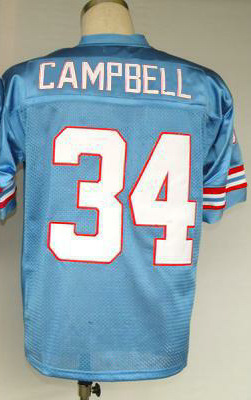 #34 Earl Campbell Jersey,Top quality Throwback Football Jersey,Sport Jersey,Size M--XXXL,Accept Mix Order(China (Mainland))