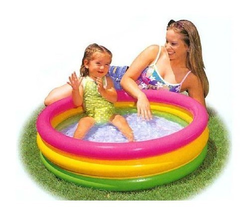 Am rique intex piscine 58924 fond rond gonflable for Intex piscine gonflable