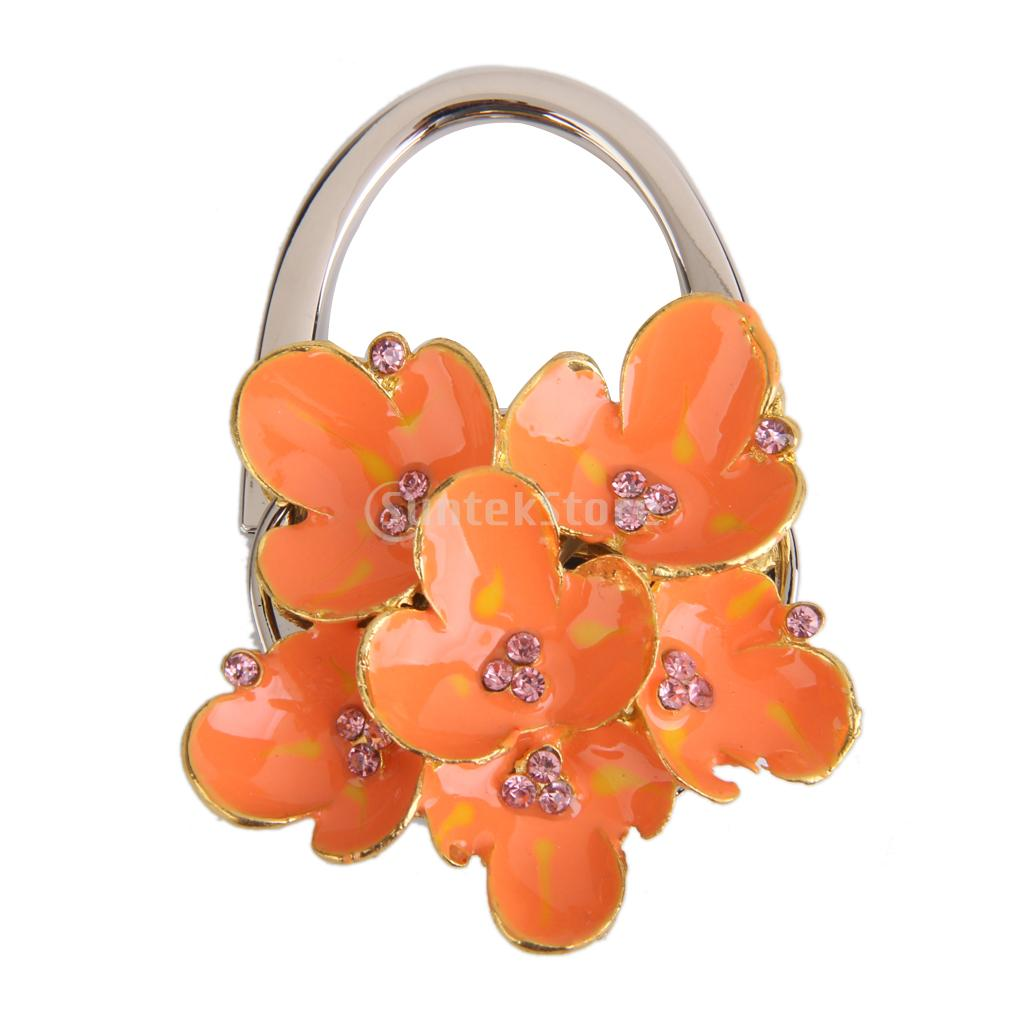 Begonia Flower Folding Handbag Purse Table Hook Hanger Holder Gift Free Shipping(China (Mainland))