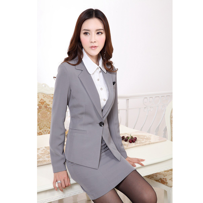 Original Formal Female Skirt Suit Women Suits With Skirt And Jacket Sets Red Blazer New 2015 Office ...