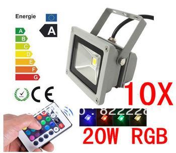 10X 85-265V High Power IP65 20W RGB LED FloodLight Flood Light Outdoor Light Color Change 2047