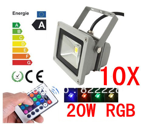 10X 85-265V High Power IP65 20W RGB LED FloodLight Flood Light Outdoor Light Color Change 2047