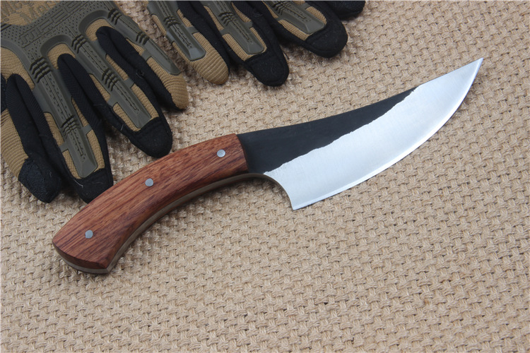 Buy Free delivery Self-defense military knife 58HRC Fixed Blade Practical strategy Camping Hunting Knife cheap