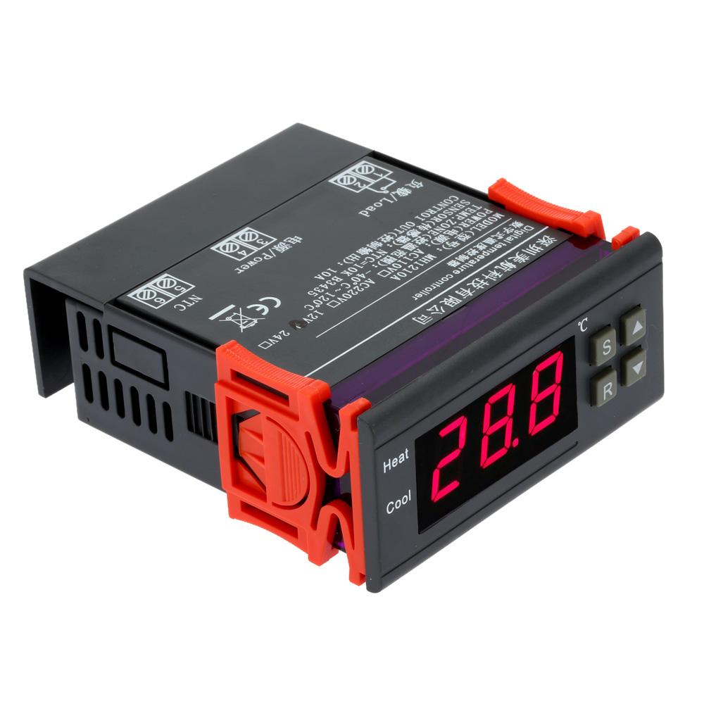 10A 12V Digital Temperature Controller mini thermal regulator thermostat Thermocouple digital termometro -40 to 120C with Sensor(China (Mainland))
