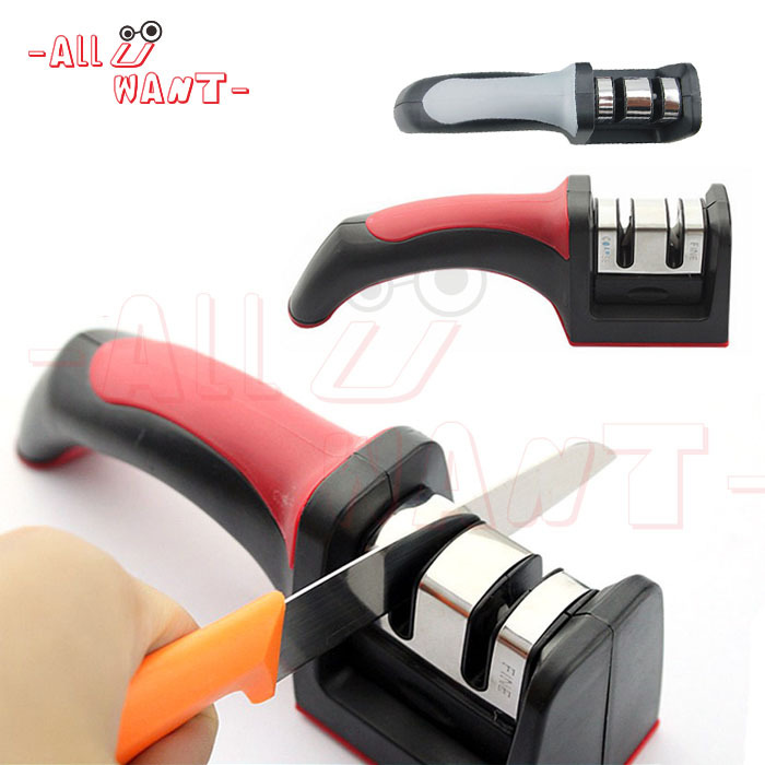 Classic Two Stages (Diamond & Ceramic) Kitchen Knife Sharpener, Knife Slicker, Kitchen Knives Tools(China (Mainland))