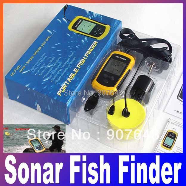 Free shipping +good quality ! depth Alarm one piece new FISHFINDER Portable Sonar Fish Finder