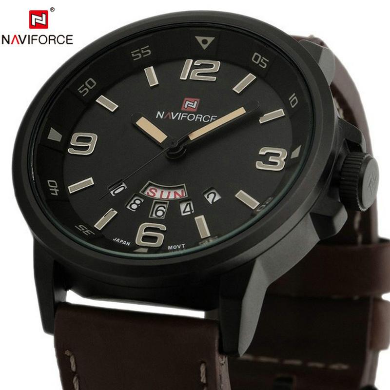 Гаджет  2015 Famous Brand New Man Military Army Leather Strap Clock Male Casual Business Quartz Wrist Watch 2015 Relogio Masculino None Ювелирные изделия и часы