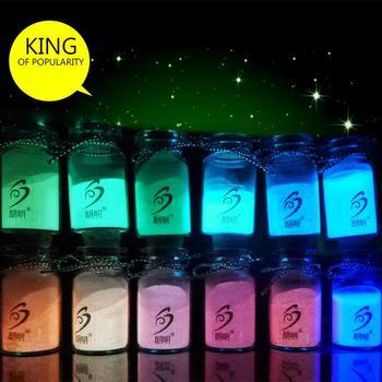 12 Colors Fashion Makeup Super Bright Glow in the Dark Glow Luminous Pigment Fluorescent Powder #78752