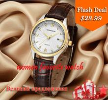 Ksd lujo marca mujeres reloj relojes de cuarzo 100 m buceo ladies favorita reloj de moda informal lether de la correa del reloj K-ZL