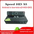 azamerica s1005 Amlogic S805 android receptor de satelite sks iks south amercia speed hd s5 skysat