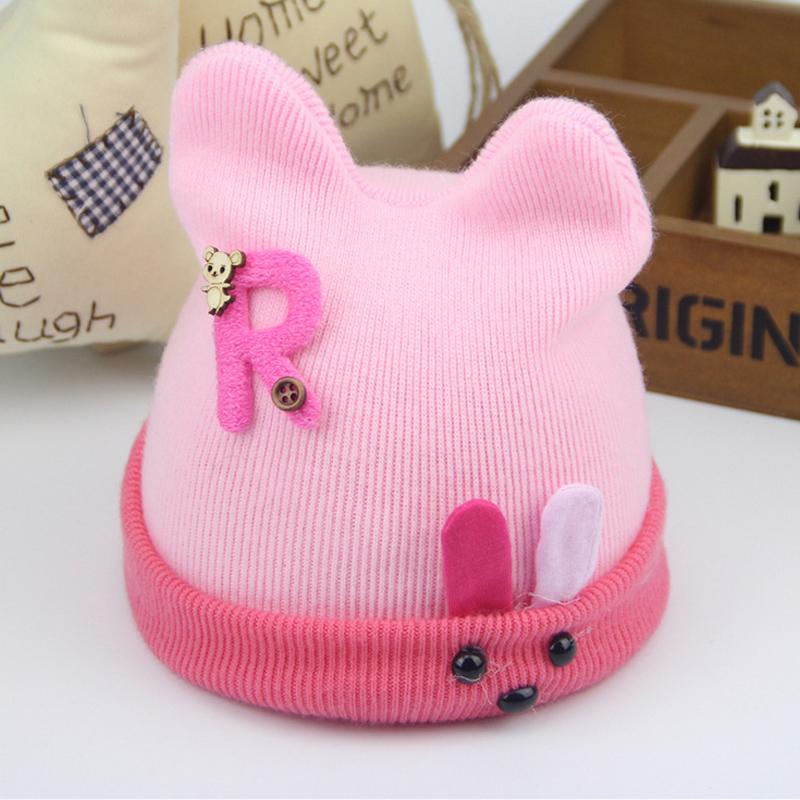 2016 New Baby Hat Autumn Winter Baby Beanie Warm Sleep Cotton Toddler Cap Kids Newborn Clothing Accessories Hat Baby Gift Funny(China (Mainland))