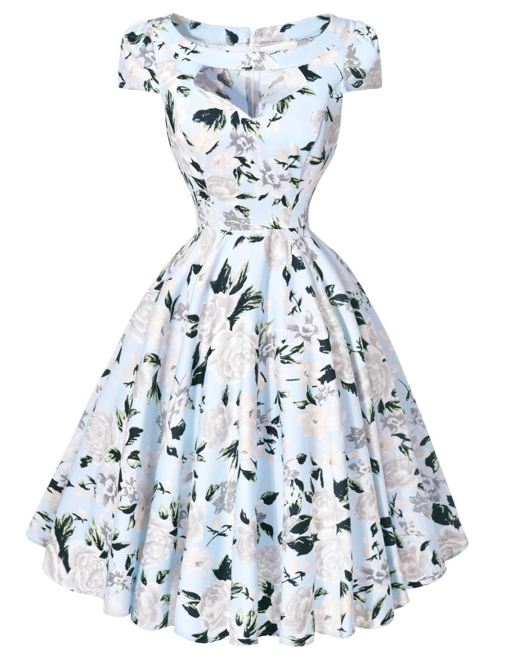 aliexpresscom buy retro women dresses summer sexy 50s