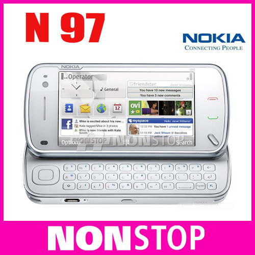 Unlocked original Nokia N97 Internal 32GB mobile phone 5 pieces/lot GSM 3G GPS WIFI 5MP 1 year warranty Free Shipping(China (Mainland))