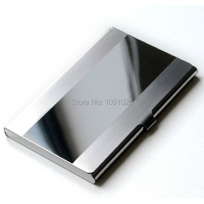 2015 !Waterproof Stainless Steel Silver Aluminium Metal Case Box Business ID Credit Card Holder Cover - Rainbow International Trade Co.,LTD store