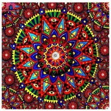 3D Full Resin Square Diamond Painting 5D Diamond embroidery Religion Blue Mandala Needlework Mosaic Cross Stitch Home Decoration(China (Mainland))