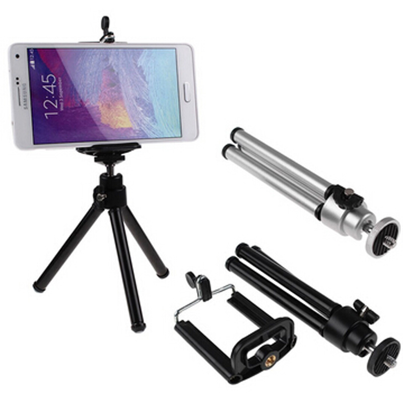 Rotatable Mini Tripod Stand + Holder For Samsung iPhone HTC Various Mobile Phone(China (Mainland))